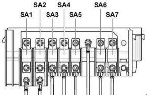 volkswagen caddy  2003 - 2005   u2013 fuse box diagram