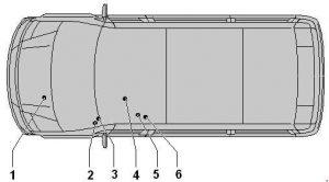 Volkswagen Crafter - fuse box diagram - location