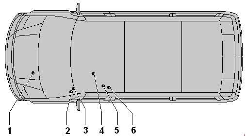 Volkswagen Crafter - Fuse Box Diagram