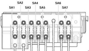Volkswagen Golf mk5 (1K) (2003 - 2009) - fuse box diagram ...