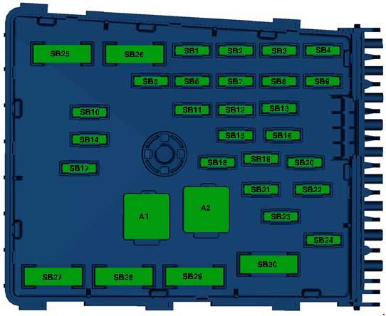 Volkswagen Passat  B7  2010 - 2015  - Fuse Box Diagram