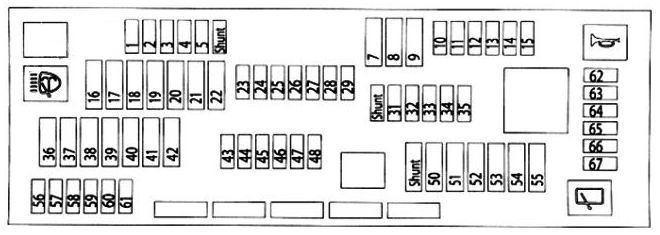 Bmw X3  F25  2011 - 2017  - Fuse Box Diagram