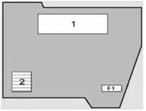 BMW X5 - fuse box diagram - engine compartment