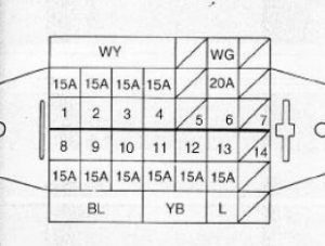 daewoo tico fuse box 2000 daewoo leganza fuse box diagram