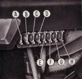 Fiat 850 Sport Spider - fuse box diagram