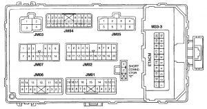Hyundai XG 300 - fuse box diagram - passenger compartment (backide)