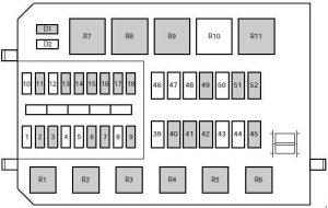 Mercury Mystique - fuse box diagram - engine compartment