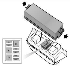 MG 6 - fuse box diagram - auxiliary box
