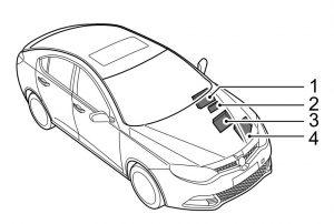 MG 6 - fuse box diagram - location
