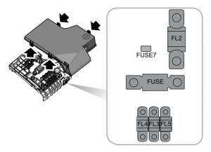 MG GS - fuse box diagram - battery