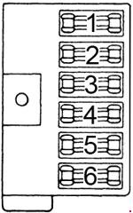 dodge b100  1971 - 1978  - fuse box diagram