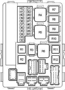 Nissan Altima - fuse box diagram - engine compartment