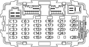 nissan frontier  1997 - 2004  - fuse box diagram
