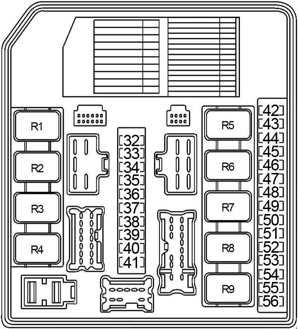 nissan sentra - fuse box diagram - engine compartment fuse box