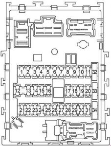 nissan sentra  2000 - 2006  - fuse box diagram