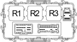 Nissan Xterra - fuse box diagram - passenger compartment fuse box