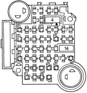 Oldsmobile 88 - fuse box diagram