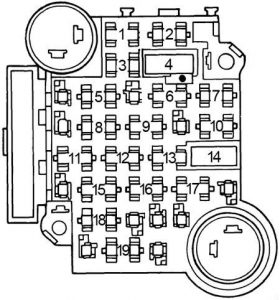 Oldsmobile Cutlass - fuse box diagram
