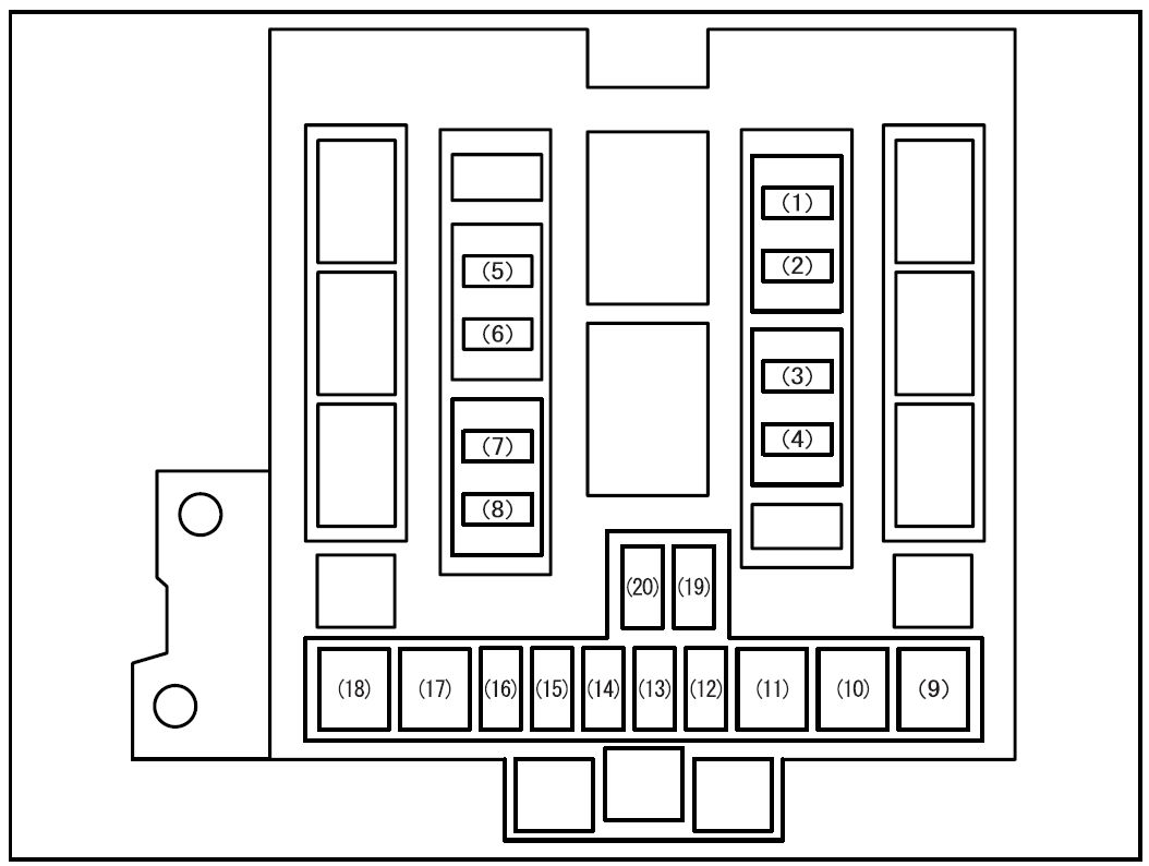 Suzuki Grand Vitara (2008) – fuse box diagram
