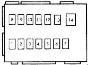 2006 suzuki aerio fuse box diagram suzuki swift (cultus) (1989 - 1994) - fuse box diagram ...