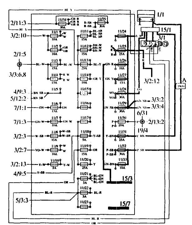 Volvo 760  1990  - Fuse Box Diagram