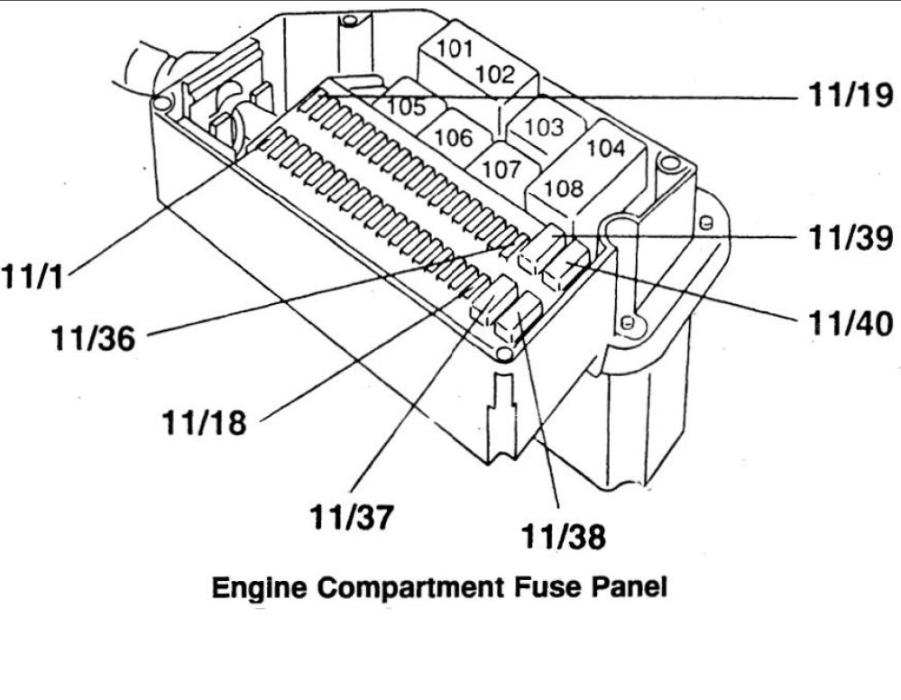 Volvo 850  1996 - 1997  - Fuse Box Diagram