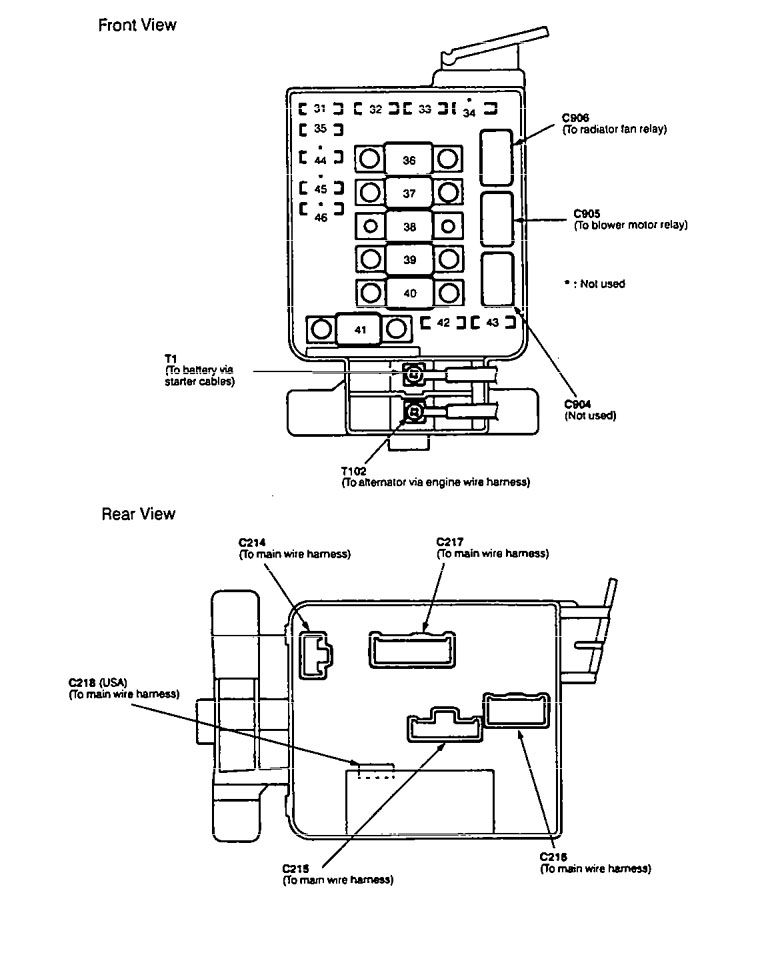 Acura Integra (1994 – 1997) – fuse box diagram - Auto GeniusAuto Genius