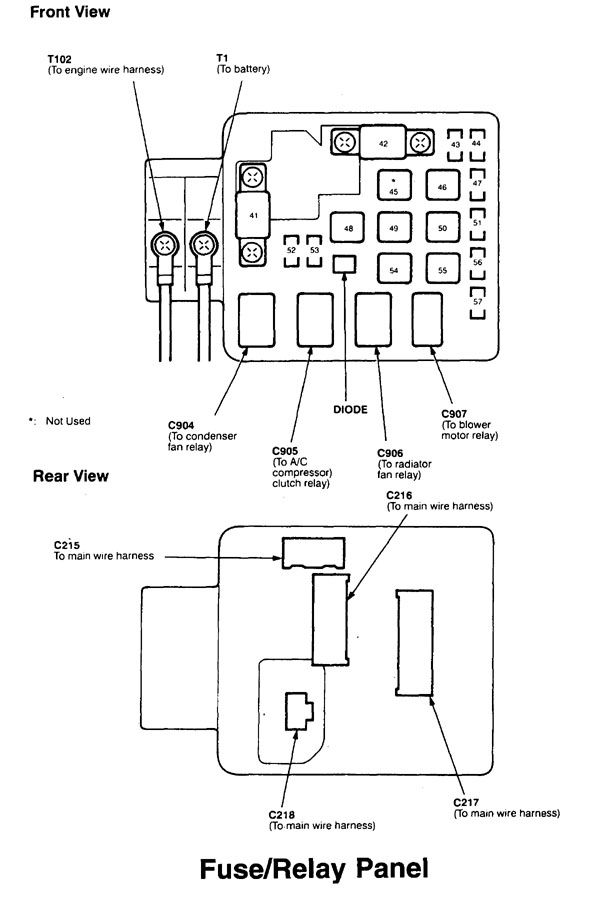 Acura Integra (1998 - 1999) – fuse box diagram - Auto GeniusAuto Genius