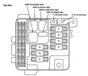 Acura Legend - fuse box diagram - engine compartment
