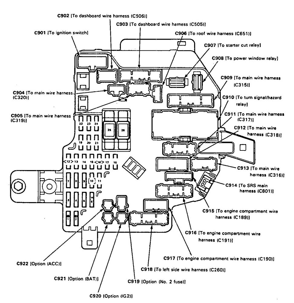 acura legend (1993) – fuse box diagram - auto genius  auto genius