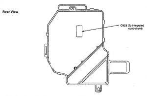Acura Legend - fuse box diagram - under-dash