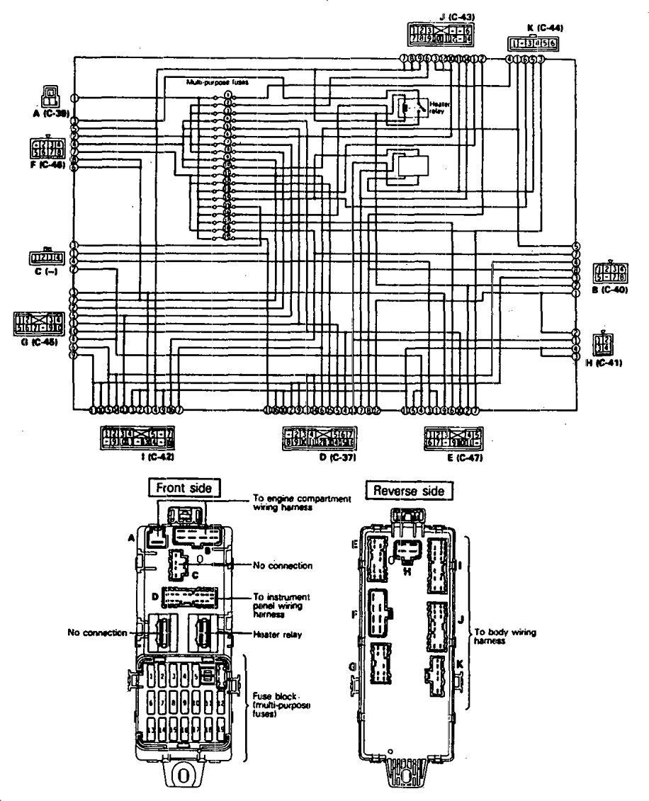 Eagle Talon  1990  - Fuse Box Diagram