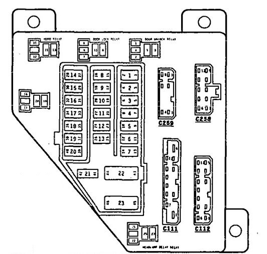 eagle vision  1996  - fuse box diagram