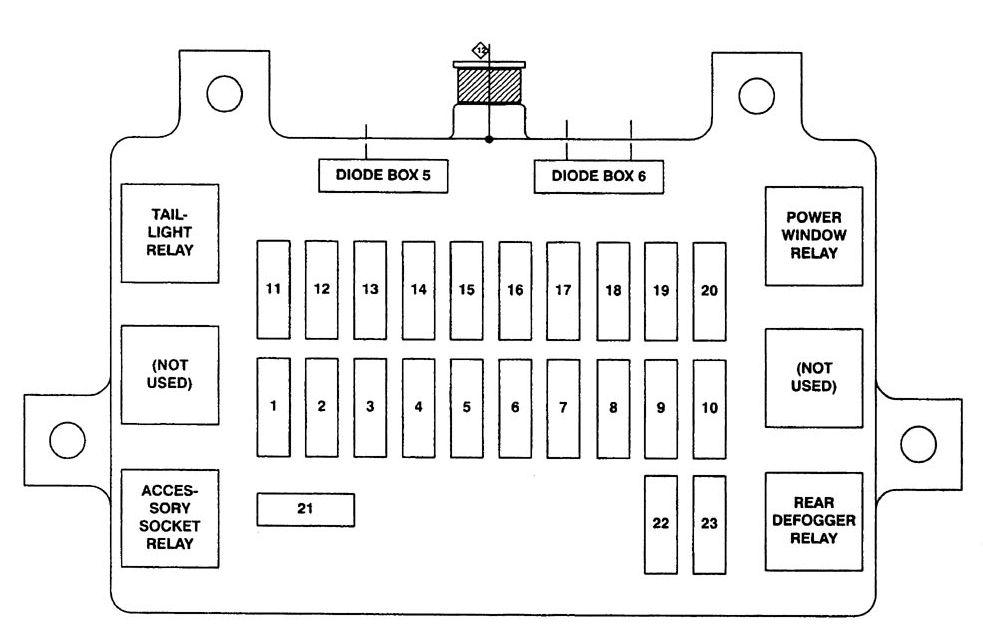 Isuzu Amigo  2000  - Fuse Box Diagram