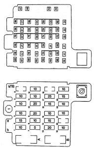 Isuzu Hombre - fuse box diagram