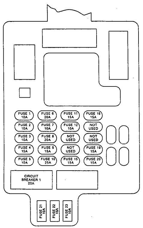 Isuzu Impulse  1992  - Fuse Box Diagram