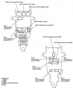 Isuzu Oasis - fuse box diagram - under-dash