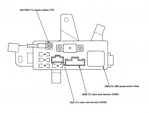 Isuzu Oasis - fuse box diagram - under-hood ABS