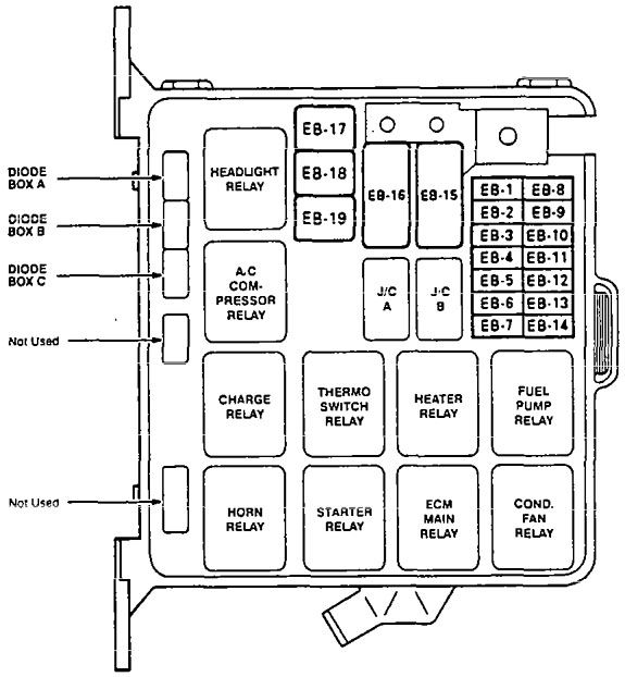 Fuse Box Diagram For 1997 Ford Contour - Wiring Diagram