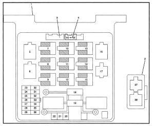 Isuzu Rodeo - fuse box diagram - engine compartment