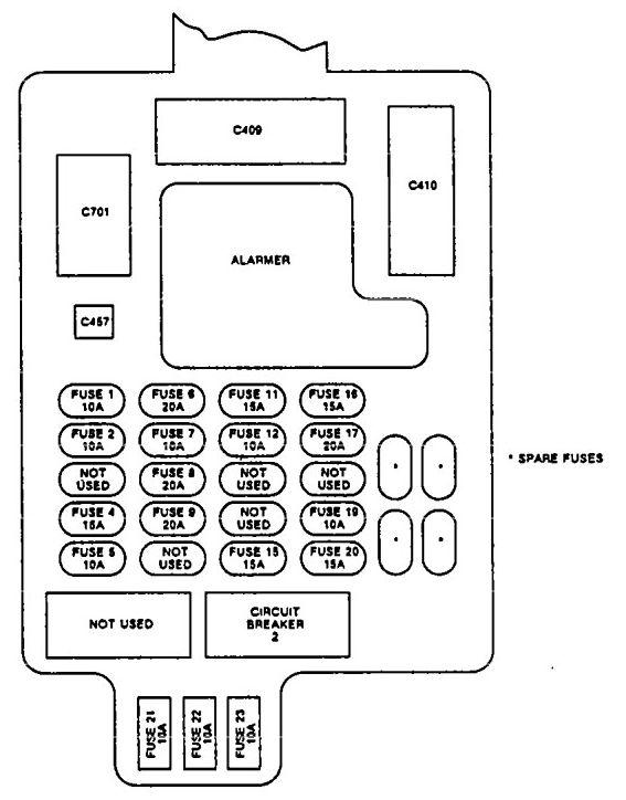 Isuzu Stylus (1991 - 1993) - fuse box diagram - Auto Genius