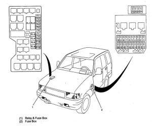 Isuzu Trooper (1998 - 1999) - fuse box diagram - Auto Genius