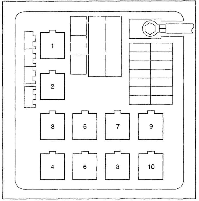 Isuzu Vehicross  1999 - 2001  - Fuse Box Diagram
