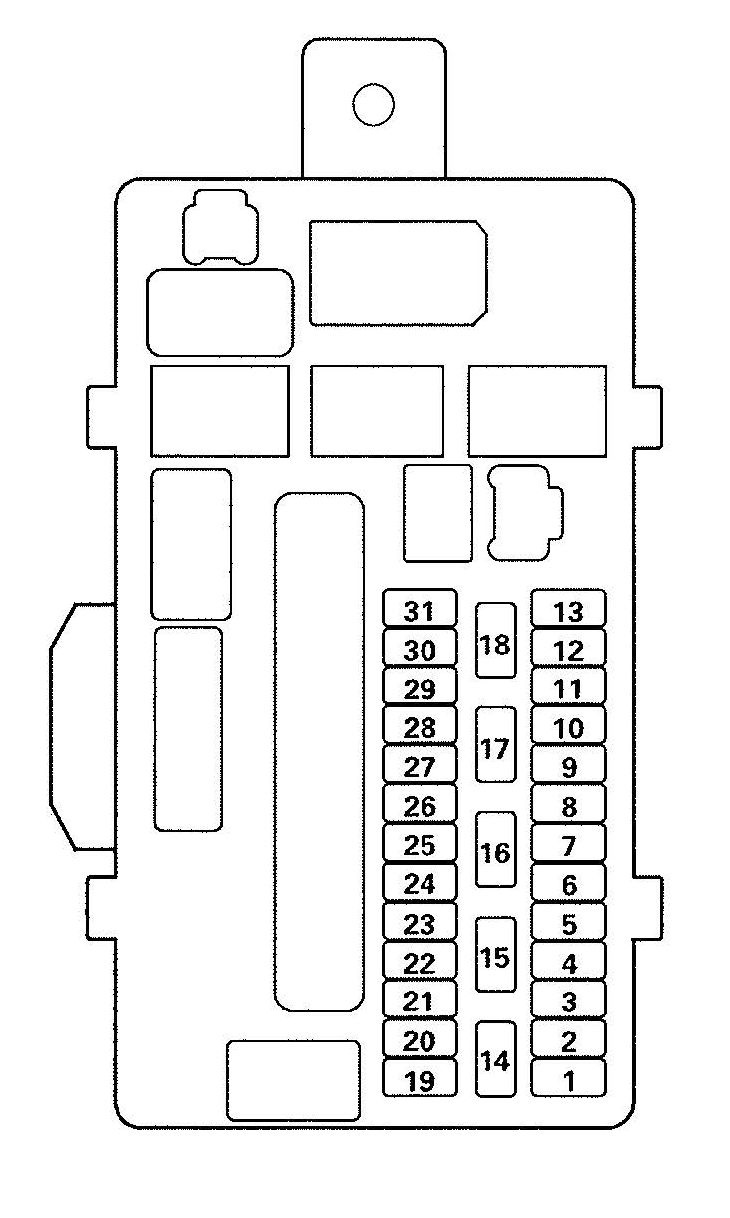 acura tl (2009) – fuse box diagram