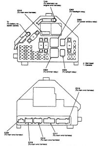 Acura TL - fuse box diagram - engine compartment