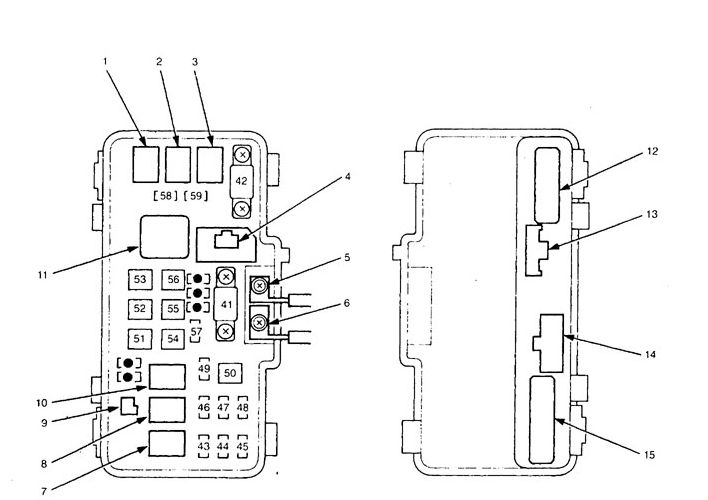 acura tl  2000 - 2001  - fuse box diagram