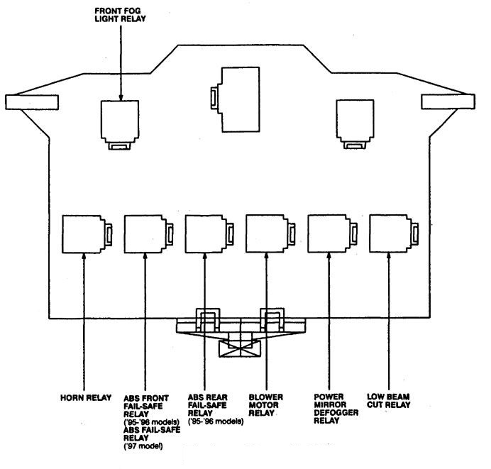 Acura Tl  1997 - 1998  - Fuse Box Diagram