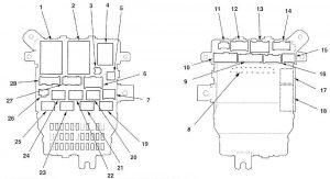 Acura TL (2007 - 2008) - fuse box diagram - Auto Genius