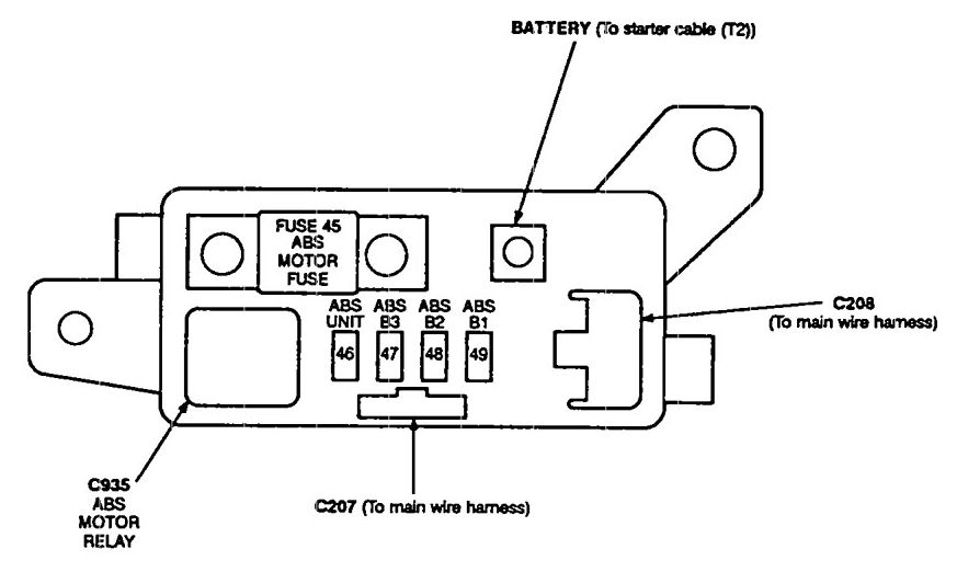 acura vigor - fuse box diagram - abs fuse box
