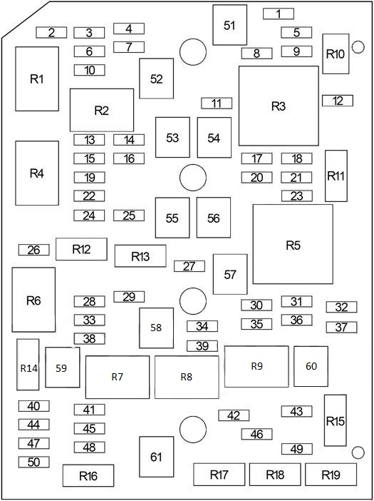 Chevrolet Impala  2006 - 2013  - Fuse Box Diagram